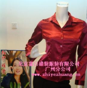 半袖衬衫广州衬衫定做广州男女衬衫纯棉衬衫定做