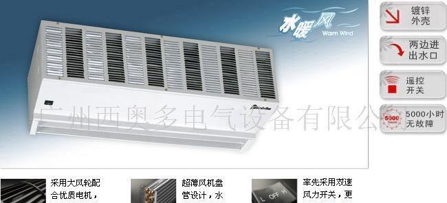 供应广州西奥多水汽蒸汽热风幕机 空气幕 图例