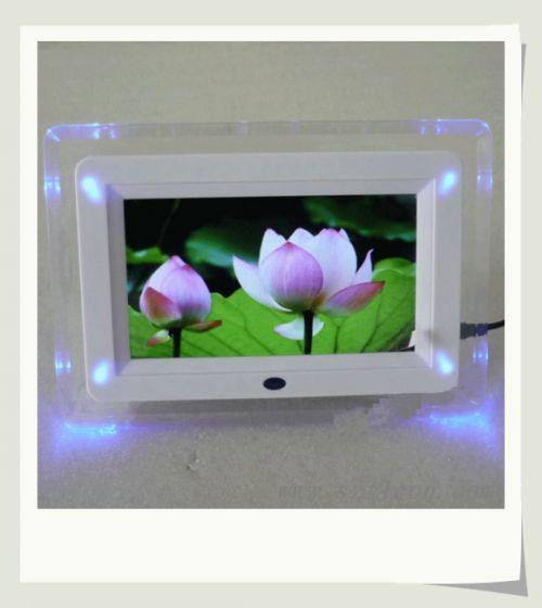 7寸双灯数码相框规格型号及价格 数码相框 数码礼品 广告机 掌上电脑