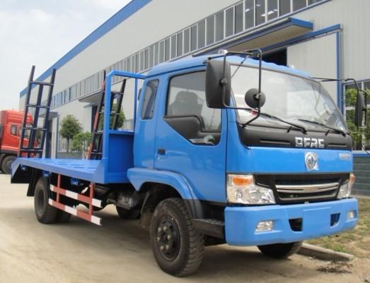东风挖掘机平板拖车,大型挖机拖车,小型平板车价格及规格型号