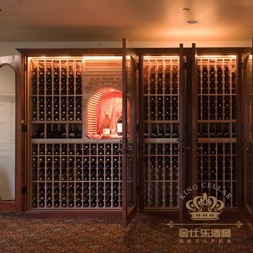 成都酒窖设计进口酒窖空调机 不锈钢酒窖 橡木酒架 酒窖商